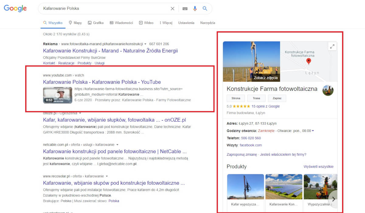 Increasing the visibility area on Google